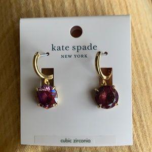NWT Kate Spade Huggies hoop earrings Berry P